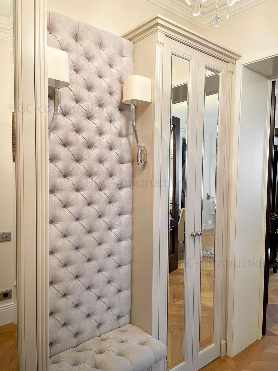 Couloir meuble sur mesure assemblage entreprise Nice